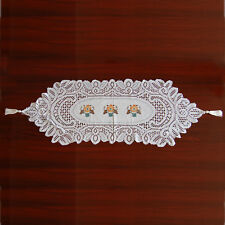 Embroidered Lace Table Runner Cloth Mat Home Wedding Party Interior Decoration