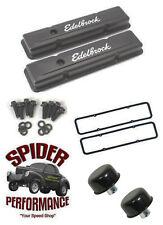 59-64 Impala Bel Air Biscayne small block LOW PROFILE BLACK valve cover kit
