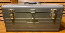 Vintage Craftsman 18 Inch Metal Tool Box With Tray