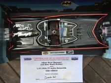 Hotwheels Batmobile 1:18 1966 TV Series Signed Adam West Batman Burt Ward Robin