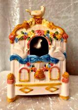Rare Schmid 1985 Ceramic Music Box Bird House Animated Dove - used