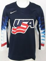 NEW United States USA Navy Blue IIHF Nike Team Ice Hockey Jersey Men's M