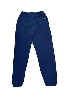 Vintage Champion Mens Medium Spell Out Sweatpants Joggers  Navy Blue