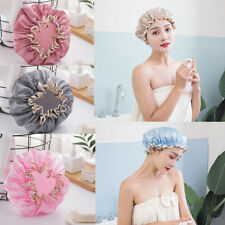 Reusable Elastic Vintage Girls Shower Cap Bath Hat Waterproof Bathroom Hair Care
