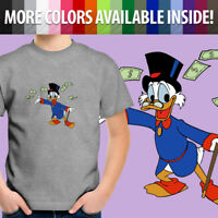 Classic Disney Scrooge McDuck DuckTales Cartoon Toddler Kids Tee Youth T-Shirt