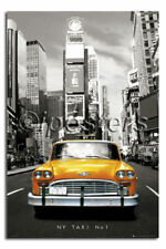 New York Yellow Taxi Times Square Poster New