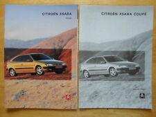 CITROEN XSARA COUPE GAMMA 1998 UK Opuscolo Vendite sul mercato + CARTELLA specifiche