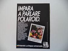 advertising Pubblicità 1985 POLAROID