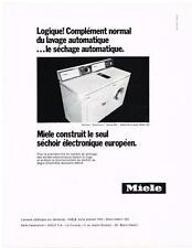 PUBLICITE  1970   MIELE   séchoir éléctonique séche linge