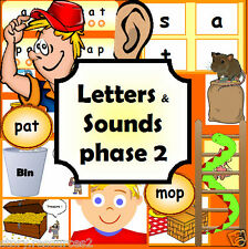 Letters and Sounds Phase 2  resource phonics literacy EYFS KS1 childminder on CD