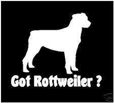 GOT ROTTWEILER ? DECAL