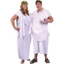 MENS LADIES XL XXL GREEK ROMAN TOGA FANCY DRESS COSTUME