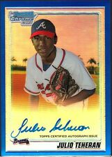 2010 Bowman Chrome Julio Teheran Blue Ref Auto /150 HOT