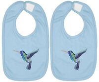 Hummingbird Bee Honey Infant Baby Bib Cotton Hook & Loop Baby Shower Gift 2Piece