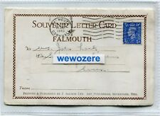 Souvenir Lettercard 5 Views of Falmouth, by J Salmon. Postally Used in 1945