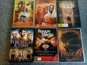 6 Christian DVD bundle~ the Passion, Rogue Saints, For Such a Time +... ~ Lot 32