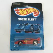 Hot Wheels Ferrari F40 Red 1989 Speed Fleet 1468 UH Wheels Great Shape