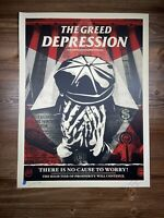 Shepard Fairey Obey Giant Greed Depression Art Print Poster Signed XX/300 NoName