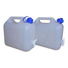 2 x 5 L Trinkwasserkanister Camping natur inkl. Ablasshahn lebensmittelecht NEU