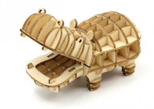 Hippo Ki-Gu-Mi 3D Wooden Puzzle