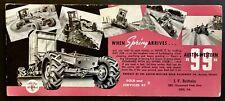 1938 Austin Western Road Machinery 99 Grader Aurora Il Real Photo Blotter Erie