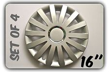 """SET OF 4 16"""" UNIVERSAL WHEEL TRIMS COVER,RIMS,HUB,CAPS TO FIT AUDI +GIFT #1"""
