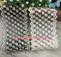FP112 7cm,1 Yard Bilateral Handicrafts DIY Embroidered Net Lace Trim Ribbon