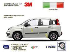 Modanature FIAT PANDA 2012> esterne laterali in gomma per adesivi salva paraurti