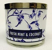 1 Bath & Body Works FRESH MINT & COCONUT 3-Wick Scented 14.5 oz Candle