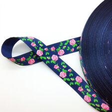 "New 5 Yards 3/4"" (20mm) Printed Grosgrain Ribbon Hair Bow DIY Sewing AD40"