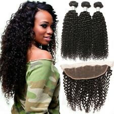 Flady Brazilian Virgin Curly Human Hair 7A- 3 Bundles-14 16 18+12