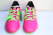 Adidas X 15.3 TFJ Pink Fastic Astro Football Boots UK 5.5 EU 38.6 Green Laces