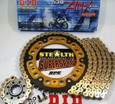 HONDA '06/07 CBR1000rr DID ZVMX Gold X-Ring 530 SUPERSPROX CHAIN & SPROCKETS KIT