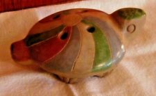 New listing Vintage Clay Pottery Ocarina Turtle Wind Instrument Whistle