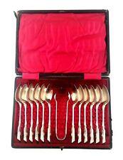 Antique Vtg Sheffield Silver Demitasse Spoon Coffee Tea Spoons Set Sugar Tongs