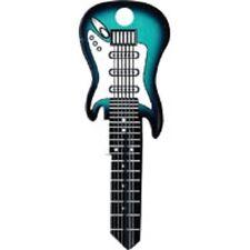 Green Electric Guitar Rockin' Keys Blank Key fits Yale 1A/U5D