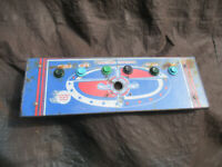 24 1/2 - 8 1/4  konami cabinet MAT MANIA  CONTROL PANEL ARCADE GAME PART