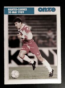 FOOTBALL TRADING ROOKIE CARD ZIDANE FRENCH ISSUE MAGAZINE 1989 CANNES 1st MATCH