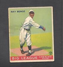 1933 Goudey Baseball # 141 Ray Benge Brooklyn Dodgers