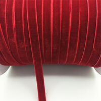 "New DIY 5 yards 3/8 ""10mm Velvet Ribbon Headband Clips Bow Decoration NO27"
