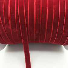 "New DIY 5 yards 3/8 ""10mm Velvet Ribbon Headband Clips Bow Decoration NO27"