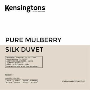 100% Mulberry Silk Filled Duvet Quilt All Seasons Weight Hotel QualityComforter