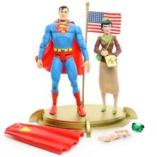 """DC Direct Silver Age SUPERMAN AND LOIS LANE 6"""" Deluxe Action Figure Mattel 2001"""