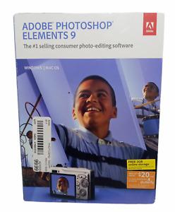 Adobe Photoshop 9 Adobe Premiere Elements 9 Photo Video Editing - Mac/Win
