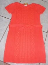 Crazy 8 GYMBOREE sweater dress clothes small 5 6 orange coral girls FREE SHIP