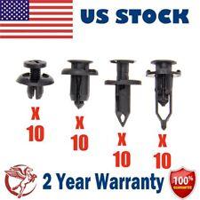 40Pcs Black Car Push Retainer Pin Body Trunk Bumper Rivet Trim Moulding Clip US