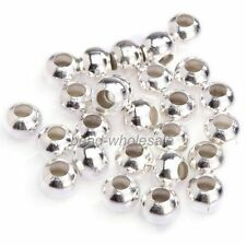 100 pcs silver plated loose Spacer beads findings Charms 5mm