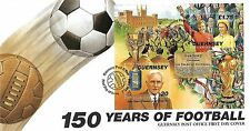 GUERNSEY FOOTBALL MINI SHEET FIRST DAY COVER