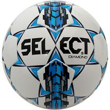 White/Blue Select Diamond Soccer Ball without Bag - Soccer - 4