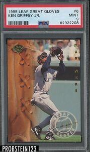 1995 Leaf Great Gloves #6 Ken Griffey Jr. Seattle Mariners HOF PSA 9 MINT